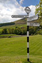 Old Road Sign In Burnsall, Yor...