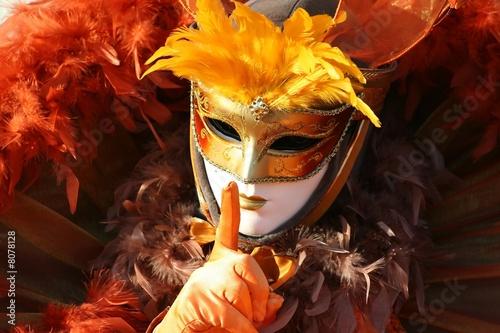 Aluminium Prints Carnaval Le penseur de Venise