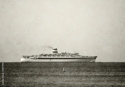 Canvas Prints Ship Retro ocean liner