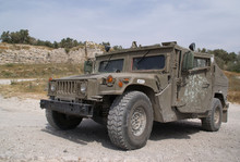 The Israeli Army Armored Jeep