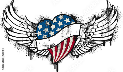 Canvas Print american flying graffitti