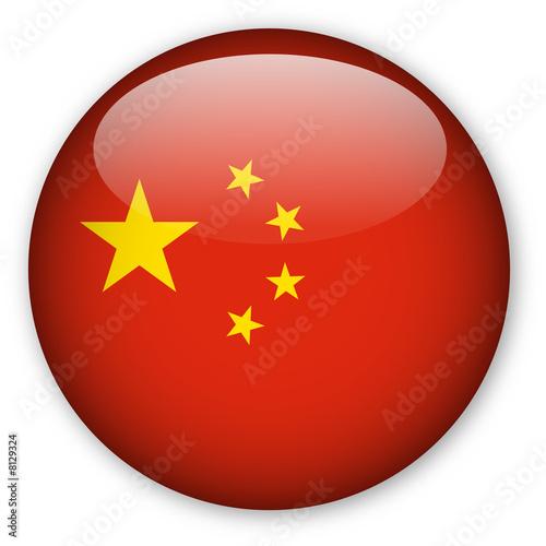 Fototapeta premium Chiński przycisk flagi