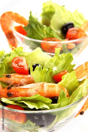 Fototapety, obrazy: Shrimp salad
