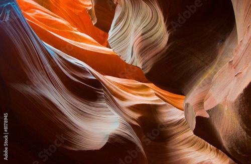 Foto op Aluminium Canyon Abstact shapes of Antelope Canyon, Arizona, USA