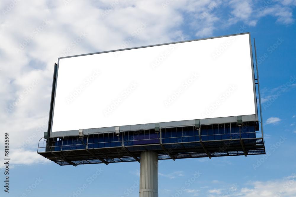 Fototapety, obrazy: Outdoor advertising billboard