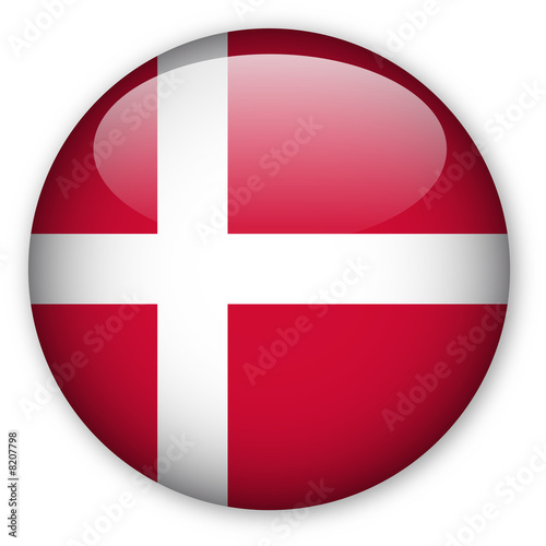 Danish flag button Fototapete