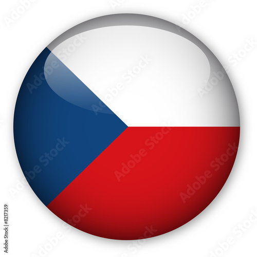 Photo  Czech Republic flag button