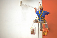 Hanging Painter Painting Wall ...