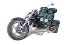 Trike Isolé Avec Tracé A La Plume