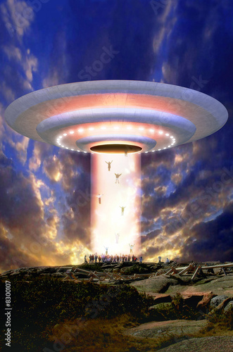 Photo  Ufo mass abduction