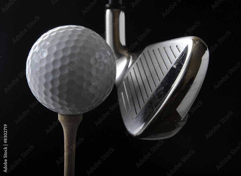 Fototapeta Golf club and ball