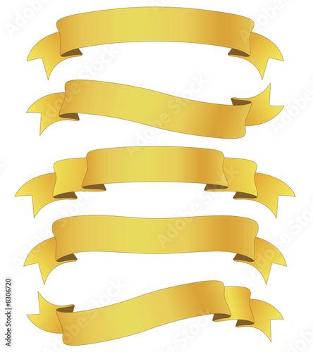 Obraz na plátně golden ribbons
