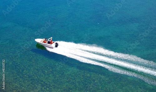 Stampa su Tela A motor boat
