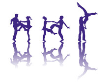 The Silhouette Of Dancers