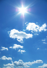 Sun And Clouds In A Sky