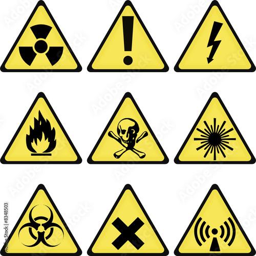 Plakaty BHP rozne-znaki-ostrzegawcze