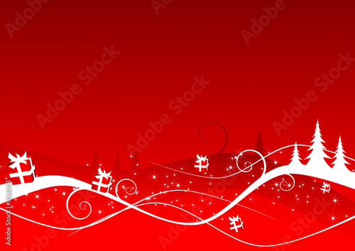La pose en embrasure Rouge Abstract red christmas background