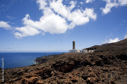 Foto-Schiebegardine Komplettsystem - lighthouse Faro de Orchilla, El Hierro, Canary Islands
