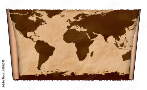 Foto op Aluminium Antique map