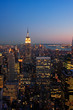Lower Manhattan at dusk