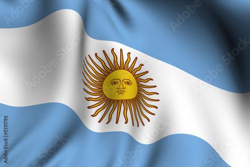 Fotografie, Obraz  Rendered Argentine Flag