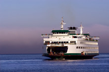 Seattle Ferryboat To Bainbridge Island In Washington State