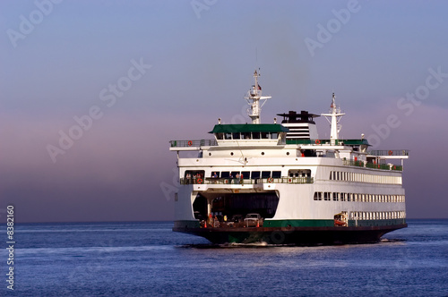 Photo  Seattle ferryboat to Bainbridge island in Washington state