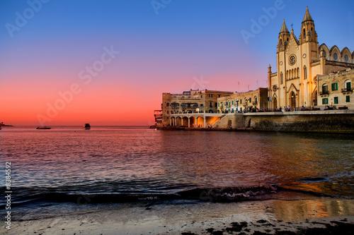 Fototapeta St. Julians Bay - Malta obraz