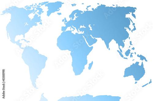 In de dag Wereldkaart planisphère