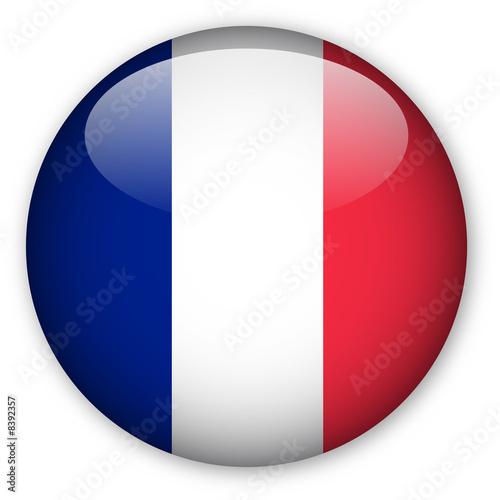 Fototapeta France flag button