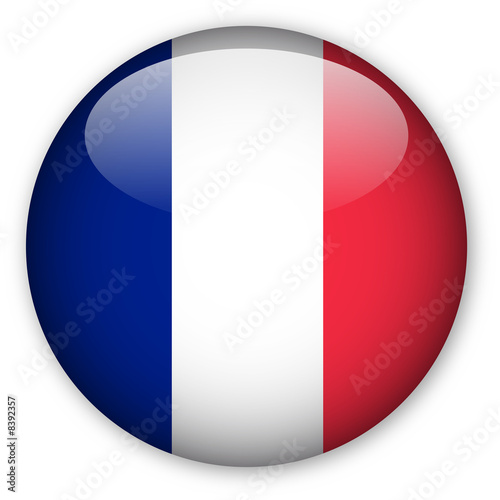 France flag button Fotobehang