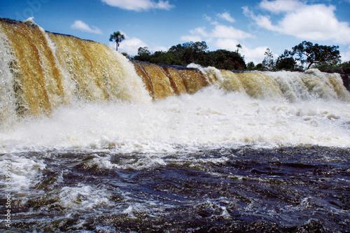 Garden Poster Palm tree Wasserfall in der Gran Sabana