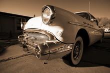American Retro Car Outdoors