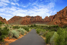 Path To The Redrock Mountains ...