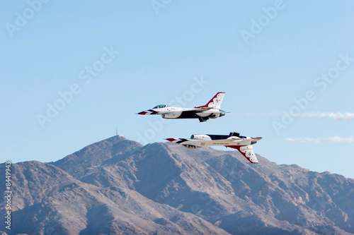F-16 Thunderbird fighter jets Canvas Print