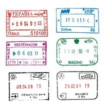 Passport Stamps: Ukraine, Russ...