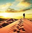 Leinwandbild Motiv Hike in desert
