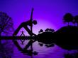 canvas print picture - yoga reflect