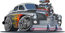 Vector Cartoon Hot Rod (engine...