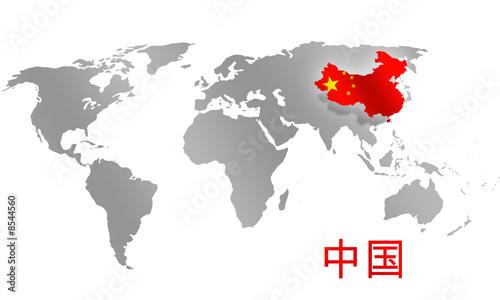 China focused World Map – kaufen Sie diese Illustration und ...