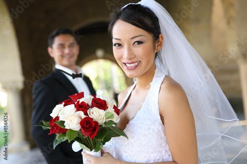 Fotografie, Obraz  Bride and Groom at Wedding