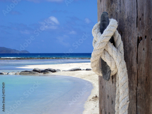 Foto Rollo Basic - Knot at the Beach (von Charlie)