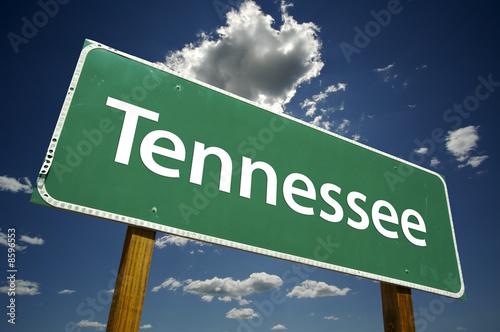 Cuadros en Lienzo  Tennessee Road Sign