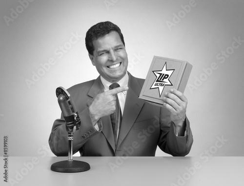 Fotografie, Obraz  Retro TV Commercial