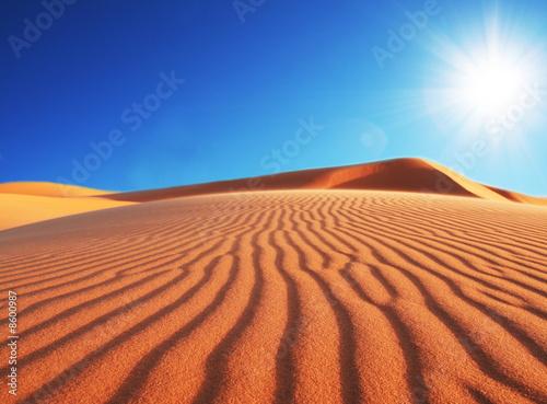 Spoed Fotobehang Oranje eclat Dunes