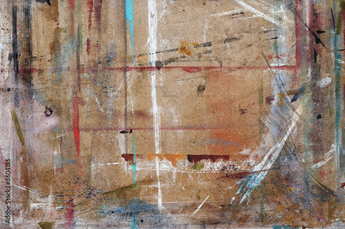worktop of painter - worktable Canvas Print