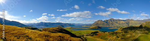 Poster Nieuw Zeeland Panorama Neuseeland