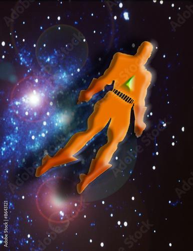 Garden Poster Cosmos SUPER EROE IN VOLO NELL'UNIVERSO