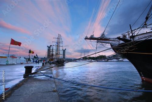 La pose en embrasure Port port de Rouen