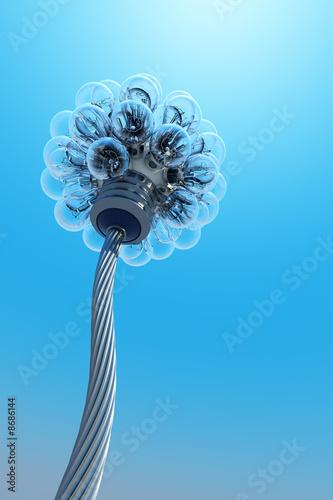 Fototapety, obrazy: new electricity concept